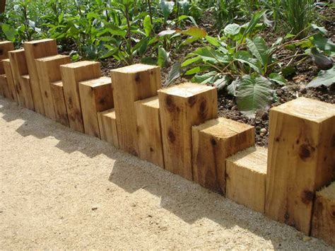 Wooden Sleepers Garden Edging by Butterfly World S Project With New Oak Railway Sleepers