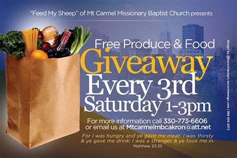 Food Pantry Flyer by Mt Mbc Invitations On Behance