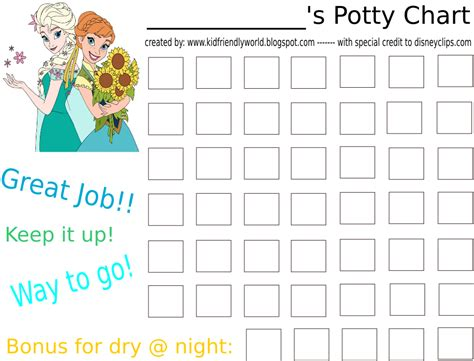search results for printable potty training chart