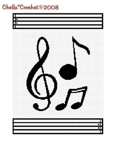 crochet pattern music notes 58 best images about musical notes on pinterest cross