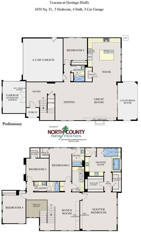 new home floorplans toscana new homes in san diego floor plans