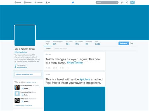 freebie twitter 2014 gui psd new profile template by