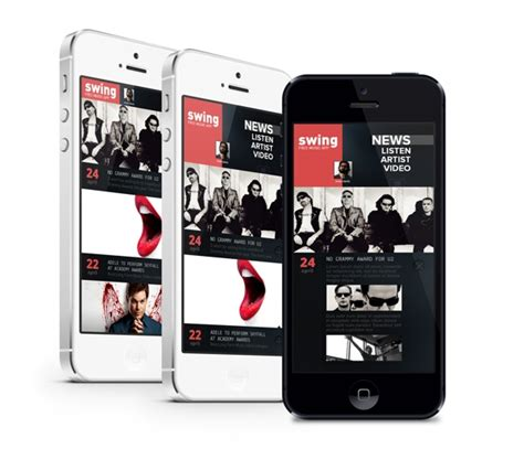 design html for mobile devices 30 recent inspirational ui exles in mobile device screens