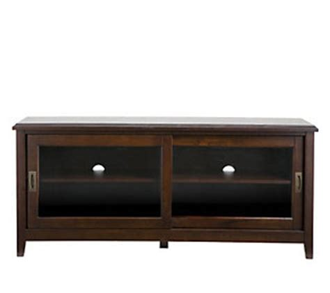 Tv Stand With Glass Doors by Espresso Tv Stand With Sliding Glass Doors