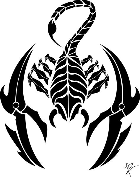 Scorpion Tribal Outline by S For Gt Tribal Scorpio Zodiac Tattoos For Scorpio Scorpio Zodiac
