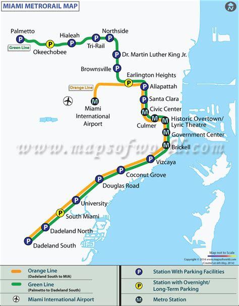 miami map miami metro map metrorail