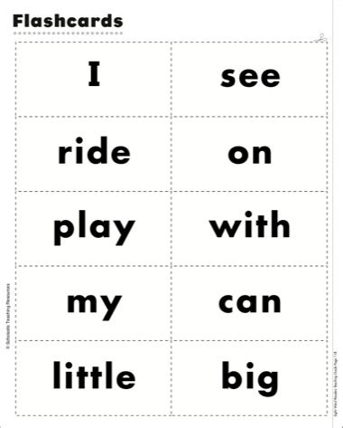free printable flash cards sight words worksheets flash card of words opossumsoft worksheets