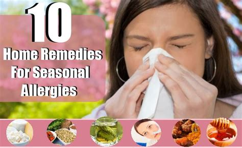 10 home remedies for seasonal allergies