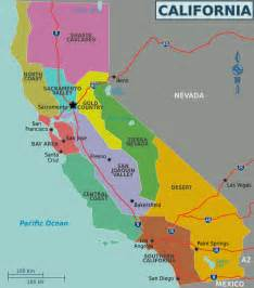 map of california regions california regions map mapsof net