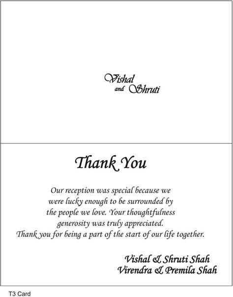 Thank You Card Template To Embed In Email by Thank You Cards Wedding Wording Search Thank
