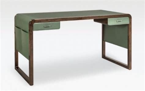 home office desk archives digsdigs refined jolie desk made with green leather and elm wood