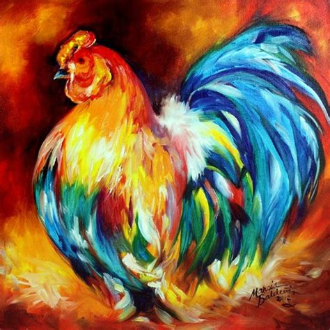 free animal painting big boy rooster by marcia baldwin from