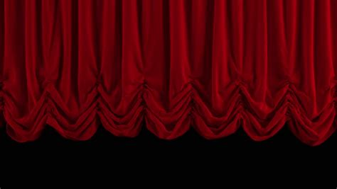 curtains up theater red stage curtain high quality computer animation stock