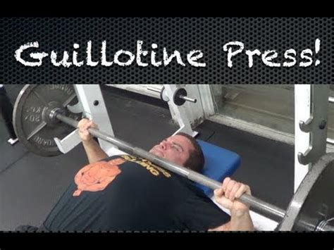 guillotine bench press how to do the guillotine press youtube