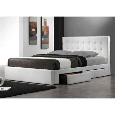 wendell bed dcg stores marlowe leather platform storage bed in white dcg stores