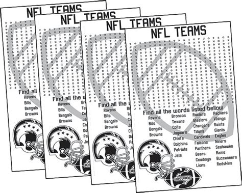 printable word searches nfl teams 6 best images of nfl football word search printable nfl