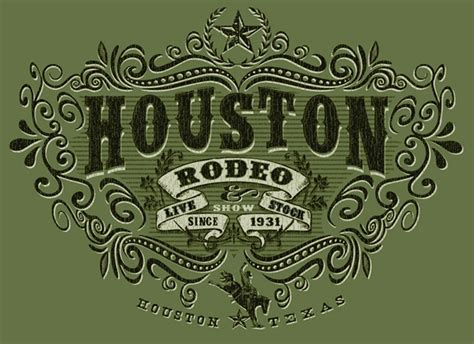 Graphic Design Home Business Ideas T Shirts Houston Rodeo By Greg Dampier Illustration