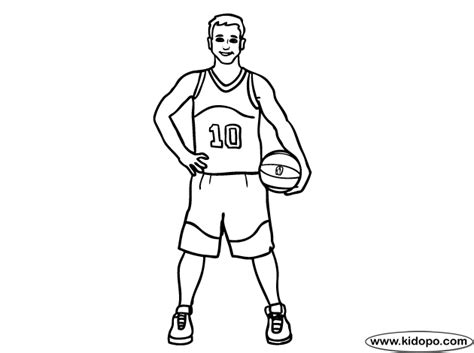 professional athlete coloring page