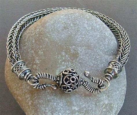 Handmade Viking Jewelry - sterling silver viking knit handmade bracelet 99 00