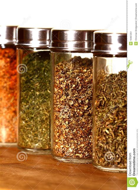 Herb And Spice Containers Herb And Spice Jars Stock Image Image 19467251