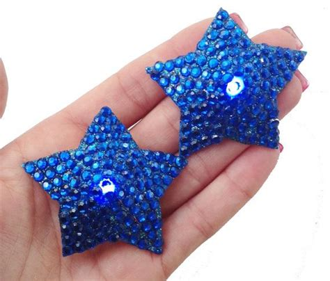 led light up pasties light up pasties blue with blue rhinestones blue