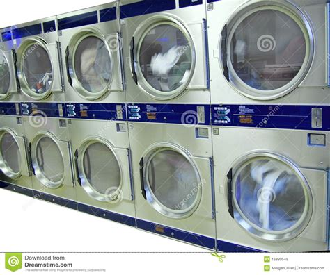 Coin Laundry Mat by Laundromat Pay Dryers Royalty Free Stock Images Image