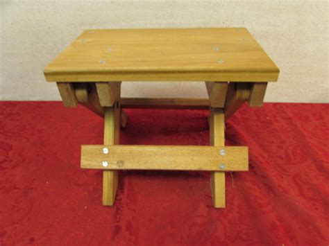 Handmade Wooden Step Stool by Lot Detail Handmade Wooden Step Stool