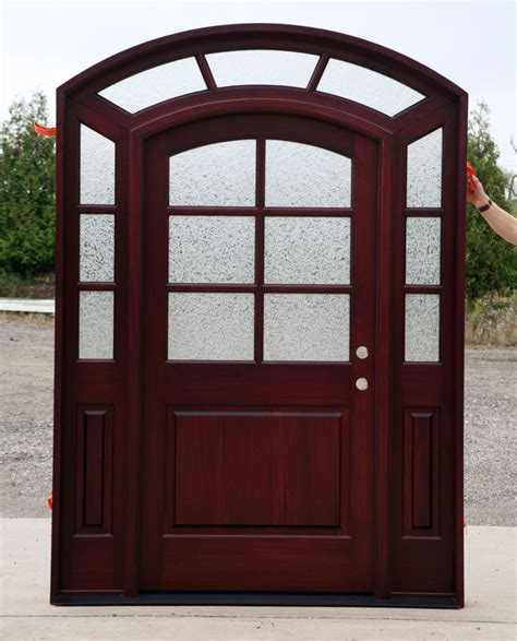 Arch Top Exterior Doors Buy This Finished Door With 2 Sidelights
