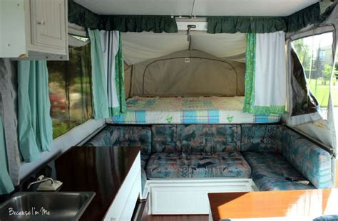 curtains for rv pop up cer curtains yes the cushions seafoam green