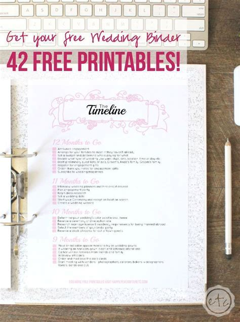 How to Put Together Your Perfect (FREE) Wedding Binder