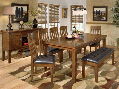Rectangular Dining Room Sets by Ralene Rectangular Extendable Dining Room Set From Ashley