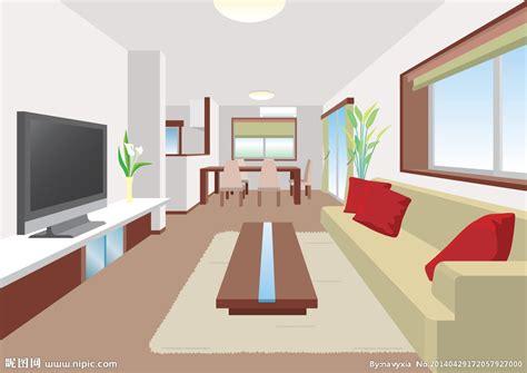 Livingroom Interior 卡通客厅设计矢量图 室内设计 环境设计 矢量图库 昵图网nipic Com