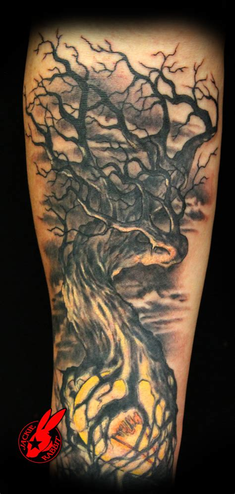 black light tattoo shops light dark tree tattoo by jackie rabbit by jackierabbit12