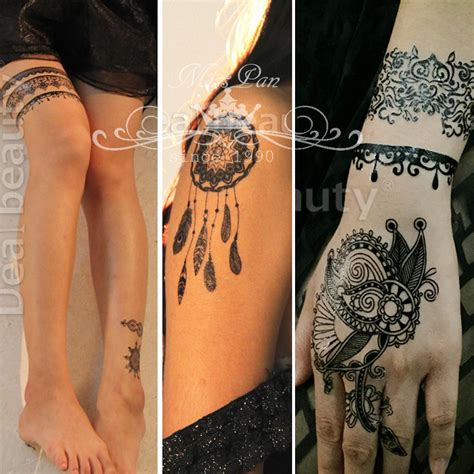 colored henna tattoos 20pcs wholesale lace 2 color henna