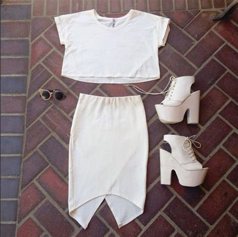 Basic Crop Blouse blouse white crop tops white top top shjirts clothes