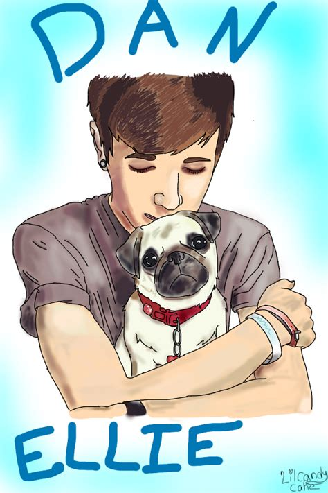 dantdm ellie the pug dan tdm and ellie the pug ibispaint