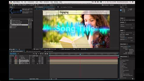 Free After Effects Template Audio Visualizer Tutorial Youtube Audio News Release Template