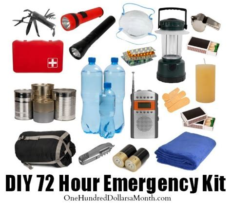 best 72 hour pack diy 72 hour emergency kit one hundred dollars a month