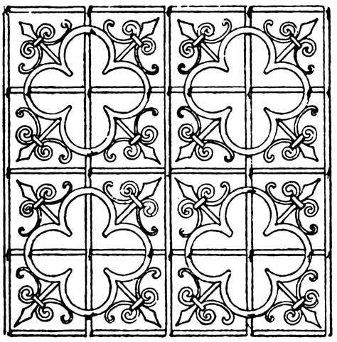 Door Pattern late gothic pattern clipart etc