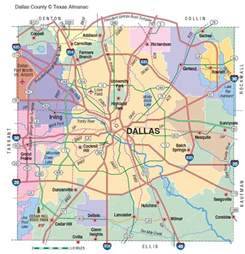 dallas on map dallas county the handbook of state