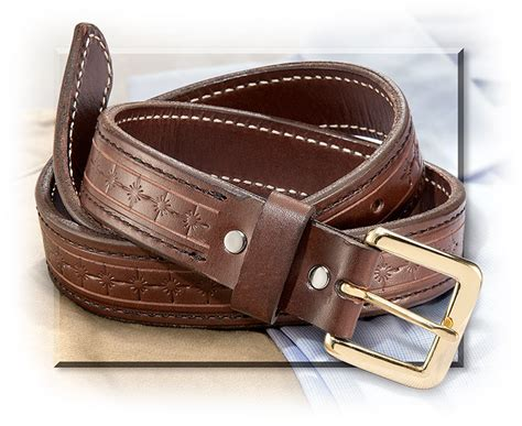 Handmade Leather Belt - mule brand handmade leather belt s for