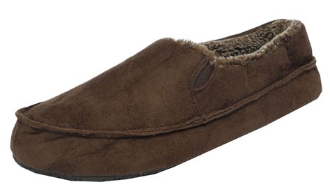 mens slippers wide fit mens dr keller wide fit micro suede shoes slippers brown