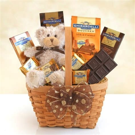 chocolate gift baskets ghirardelli caramel chocolate gift basket 7232 at