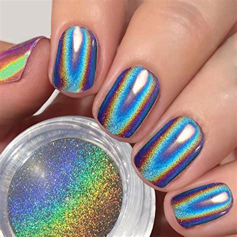 what wattage uv l for gel nails prettydiva 1g holographic powder rainbow unicorn chrome