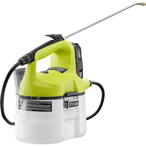 home depot paint sprayer ryobi ryobi one 18 volt lithium ion cordless chemical sprayer