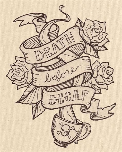 death before decaf tattoo before decaf threads unique and awesome