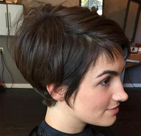 try on a pixie cut 35 trendiest short brown hairstyles and haircuts to try