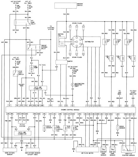 toyota 4runner wiring diagram 1986 toyota wiring