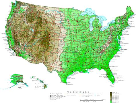 united states map of population density us states major cities map
