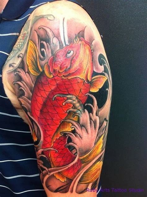 koi tattoo up or down 17 best images about ink on pinterest japanese koi